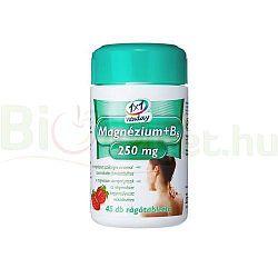 1×1 Vitaday magnézium + B6-vitamin rágótabletta, 45 db