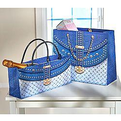 2 ajándéktasak - kék színben