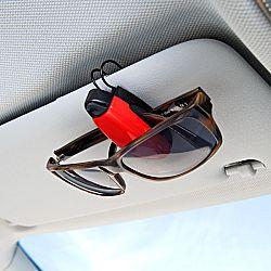 2 db szemüvegtartó kapocs - piros + kék színben