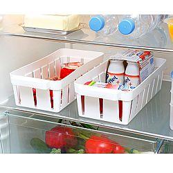 2 hűtőszekrénykosár - fehér színben