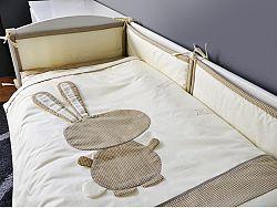 2-részes ágynemű szett - nyuszi lány - bézs