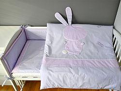 2-részes ágynemű szett - nyuszi lány - lila