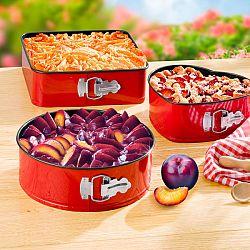 3 db sütőforma - piros színben