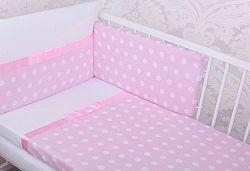 Ágyneműhuzat Grácie szalaggal 120x90 cm - rózsaszín