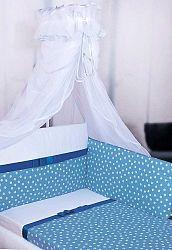 Ágyneműhuzat Gracie szalaggal - 135x100 cm - kék