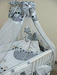 Ágynemű szett - kisbárányok - szürke 120x90 cm