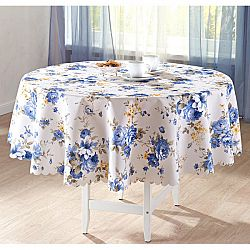 Asztalterítő Kék virágok - velikost átlag 140 cm