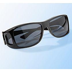Autós napszemüveg - fekete színben