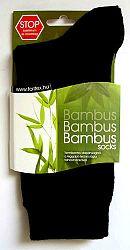 Bambusz zokni, fekete 36-39