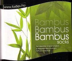 Bambusz zokni, sötétkék 40-42