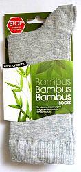 Bambusz zokni, szürke 36-39