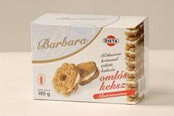 Barbara gluténmentes keksz, kókuszos 180 g