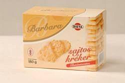 Barbara gluténmentes sajtos kréker 180 g