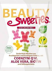 Beauty Sweeties gluténmentes vegán gumicukor nyuszik, 125 g