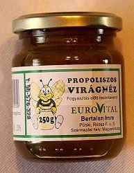 Bertalan Propoliszos virágméz, 250 g