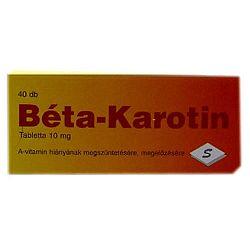 Béta-Karotin tabletta 10 mg, 40 db
