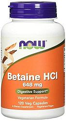 Betaine HCI emésztőenzim 648 mg, 120 Vcaps