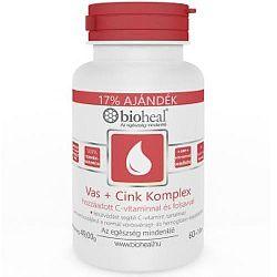 Bioheal Vas + Cink komplex C-vitaminnal és folsavval, 70 db
