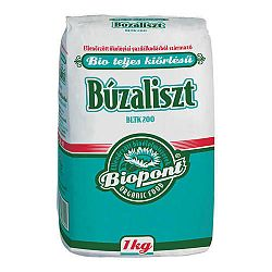 Biopont bio teljesőrlésű búzaliszt (BLTK 200), 1 kg