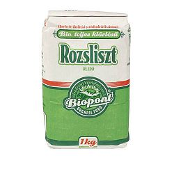 Biopont bio teljesőrlésű rozsliszt (RL 190), 1 kg