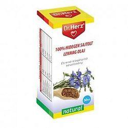 Dr. Herz hidegen sajtolt lenmagolaj, 50 ml