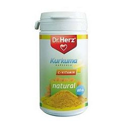 Dr. Herz kurkuma és C-vitamin kapszula, 60 db