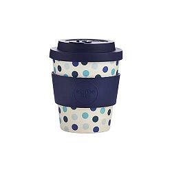 Ecoffee Cup hordozható kávéspohár - Blue Polka, 250 ml