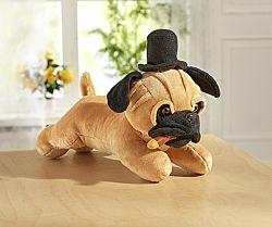 Éneklő kutya cilinderrel és szivarral