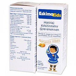 Eskimo Kids halolaj gyerekeknek narancs ízben, 105 ml