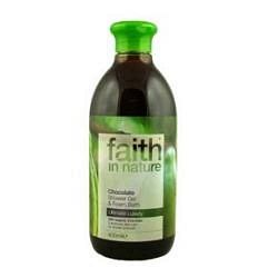 Faith in Nature Bio Kakaó (csokoládé) tusfürdő, 400 ml
