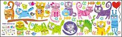 Faldekoráció - Funny Cats