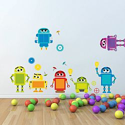 Faldekoráció - robotok