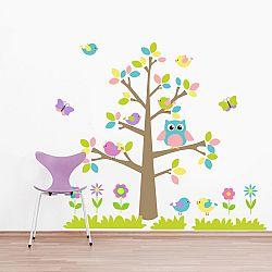 Faldekoráció - színes fa állatkákkal