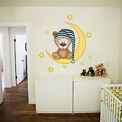 Fali dekoráció Deluxe - maci a holdon
