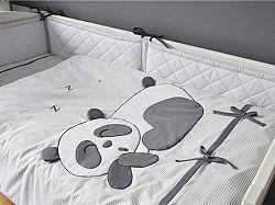 Gyerek 2-részes ágynemű Panda - szürke