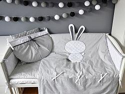 Gyerek 2-részes ágynemű szett - nyuszi - szürke