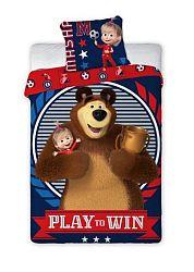 Gyerek ágynemű Mása és a medve Play