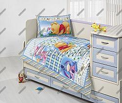 Gyerek ágynemű - Micimackó patchwork