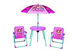 Gyerek kerti bútor szett - Mancs őrjárat - rózsaszín