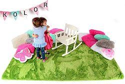 Gyerek plüss szőnyeg - zöld