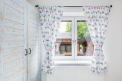 Gyerekszoba függöny - fehér színes baglyokkal 54
