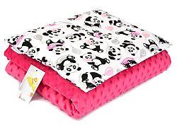Gyermekek takaró és párna M Panda - fukszia