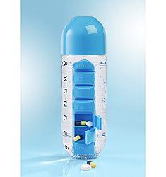 Gyógyszeres doboz ivópalackkal
