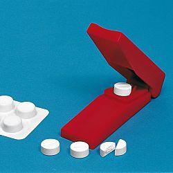 Gyógyszerfelező - piros színben