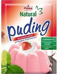 Haas Natural puding, 40 g - szamócás