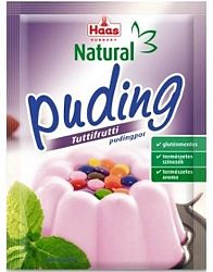 Haas Natural puding, 40 g - tuttifrutti
