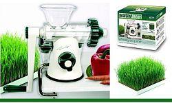 HEALTHY JUICER Kézi Búzafű- és zöldségprés, fehér-zöld színű