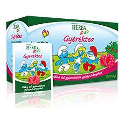 Herbária Herba Kids gyümölcstea gyermekeknek málna ízben, 20 filter