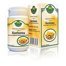 Herbária Kurkuma-gyömbér tabletta, 120 db