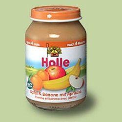 Holle bio bébiétel, alma-banán-sárgabarack 190 g